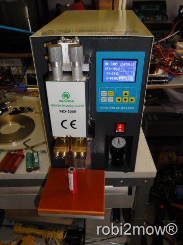 Punktschweißmaschine für Akku Zellen